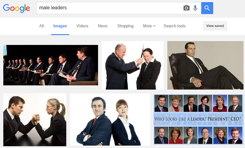 Google Search for Male Leaders